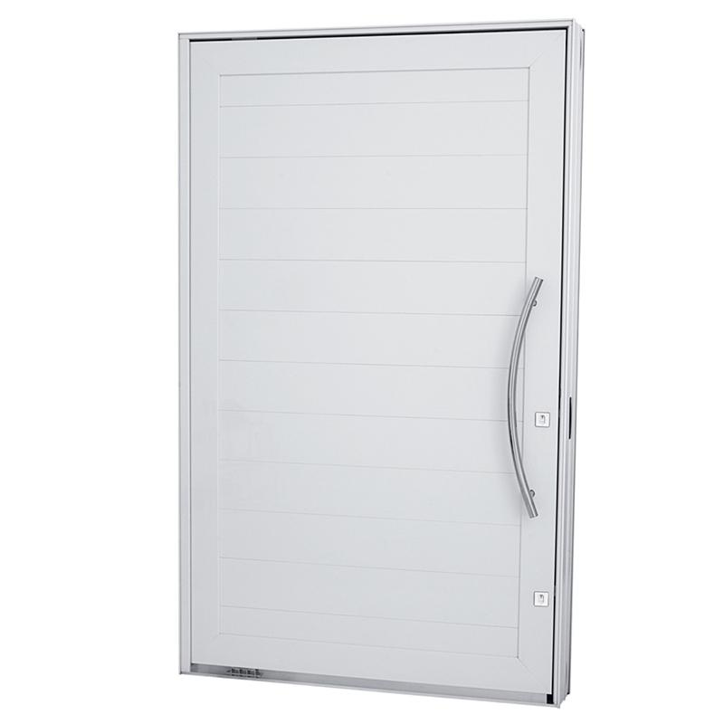 Porta Pivotante de Lambril em Alumínio Branco Linha 30